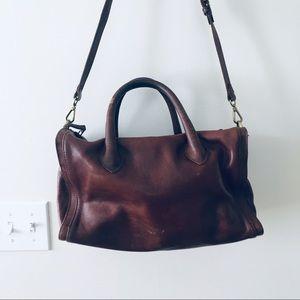 MADEWELL • crossbody brown leather purse bag